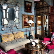 blue room in Ottoman chic
