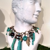 bohemiachic turquoise necklace