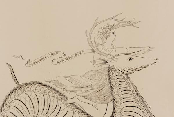 calligraphy drawing from Jeffrey Bridgman