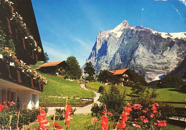 chalet postcard