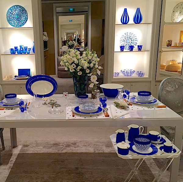 Summer inspiration from Dior home boutique via Doris Brynner instagram