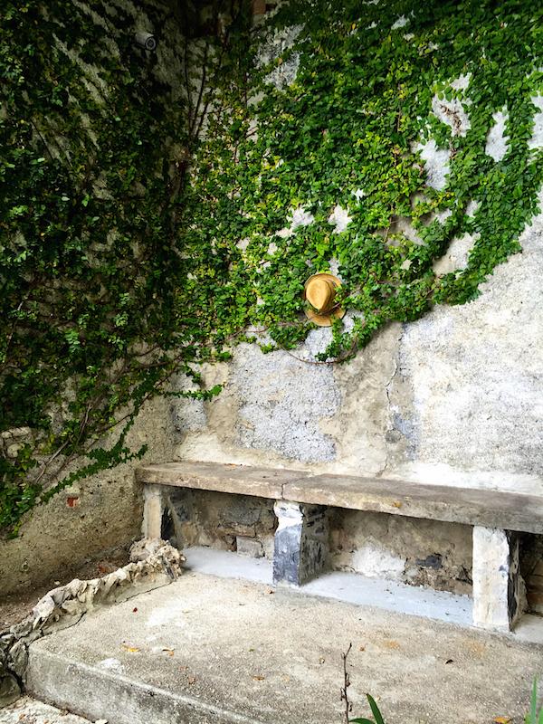 garden wall at Romeo Sozzi villa