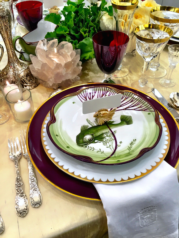 table set for summer at Michael C Fina