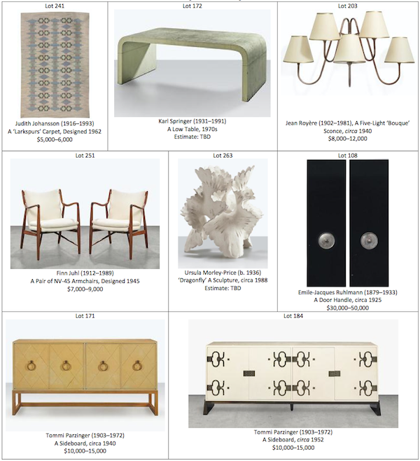 Christie's 20th Century Decorative art and design auction