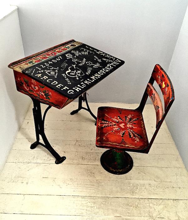 vintage desk at scrub oak, nantucket